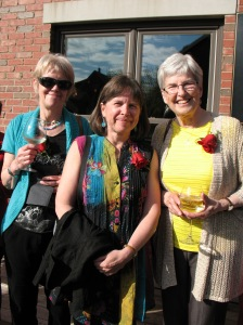 At the Atlantic Book Awards, 2014, PEI, with Jackie Halsey and Jill MacLean (Jill won the Ann Connor Brimer Award, I didn't:)